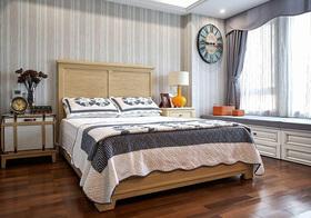 东南亚条纹卧室效果图