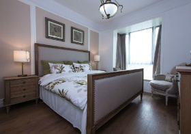 美式浅色卧室设计