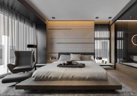 现代简约原木卧室设计