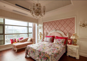 欧式粉色卧室实景