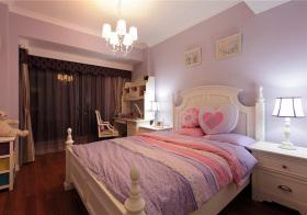 欧式粉紫卧室欣赏