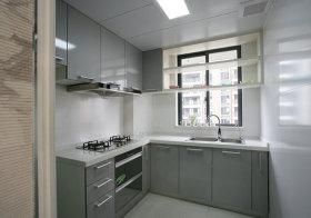 现代公寓厨房实景
