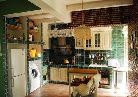 混搭瓷砖厨房实景