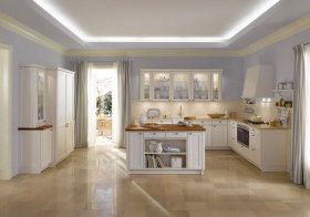 美式淡紫厨房效果图