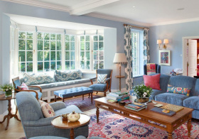 美式客厅飘窗欣赏