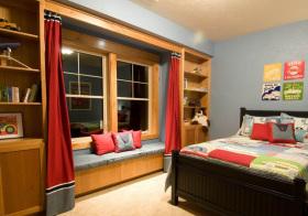 美式木质飘窗设计