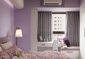 简欧淡紫色飘窗实景
