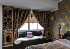 中式复古镂空飘窗设计