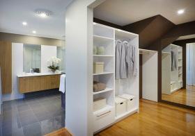 简约衣帽间盥洗室效果图