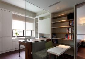 简约玻璃开放式书房设计