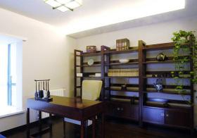 中式木质书房实景