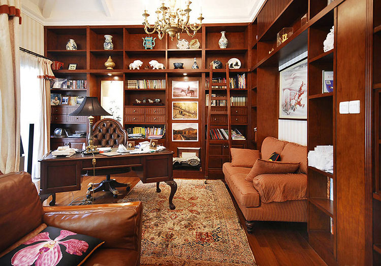 美式木质书房美图