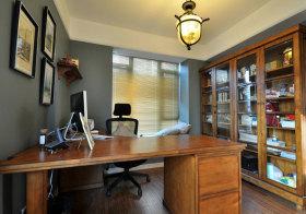 美式木质书房实景