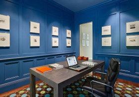 美式蓝色海洋书房欣赏