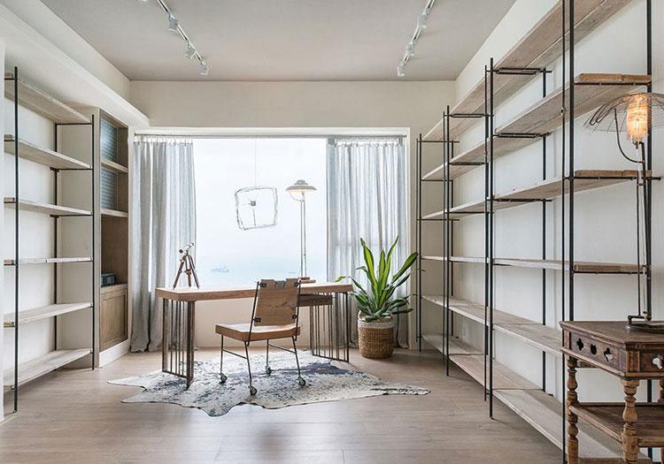 简约铁艺木质书房设计