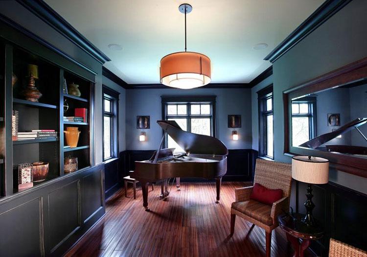 美式钢琴书房欣赏