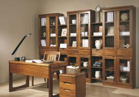 美式木质书房效果图