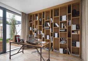 新中式原木书房设计