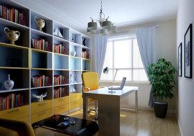 混搭彩色书房效果图