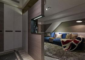 现代不规则卧室隔断效果图