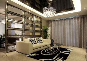 现代奢华沙发背景隔断设计