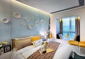 东南亚玻璃立体背景墙欣赏