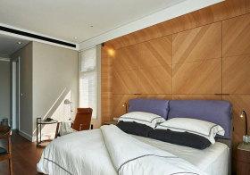 混搭木质卧室背景墙美图
