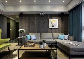 混搭褐色木质背景墙美图