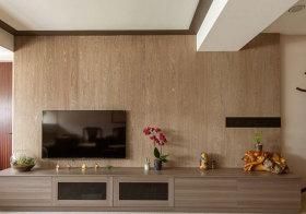 混搭木质电视背景墙细节