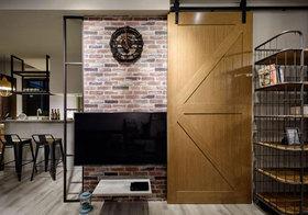 混搭砖头木质背景墙设计