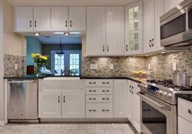 混搭白色厨房欣赏