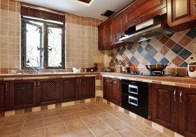美式彩色厨房美图