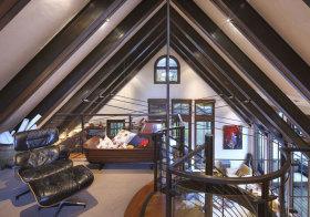 美式褐色阁楼设计