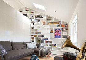 现代书柜阁楼美图