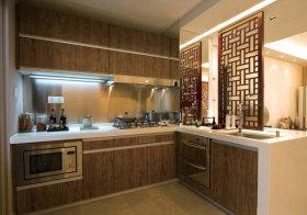 新中式木质橱柜实景