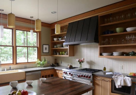 混搭原木橱柜设计