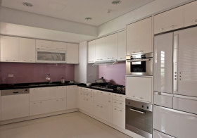 现代简约淡紫橱柜效果图