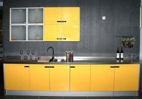 混搭黄色橱柜设计