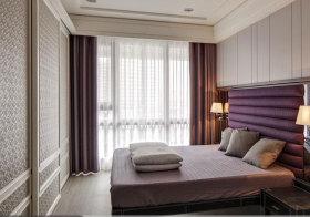 欧式紫色断面窗帘欣赏