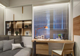 宜家书房百叶窗窗帘设计