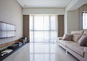 现代素色窗帘案例
