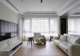 现代纯白色窗帘美图