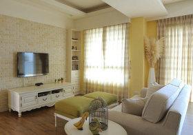 欧式黄色格纹窗帘欣赏