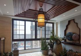 东南亚回旋吊顶设计