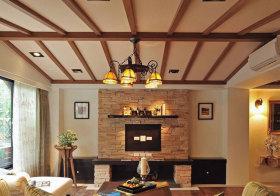 混搭木框吊顶设计