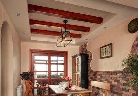 混搭红色木质吊顶设计