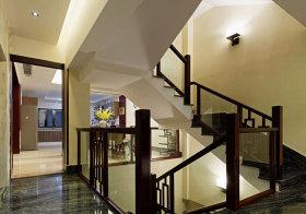 中式玻璃楼梯实景