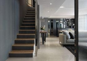 现代暗色楼梯美图