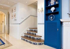 地中海瓷砖楼梯效果图