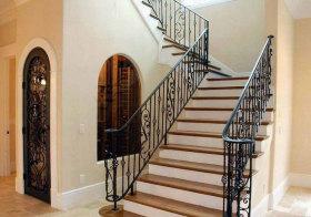 地中海铁艺楼梯设计